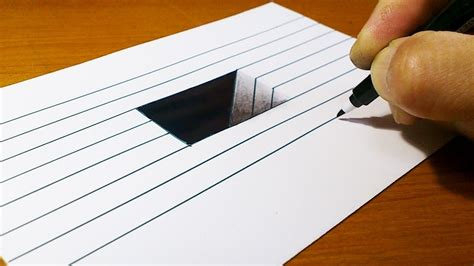 How To Draw Simple 3d On Paper