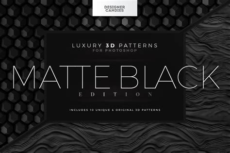 matte black pattern 3d patterns matte black edition designercandies