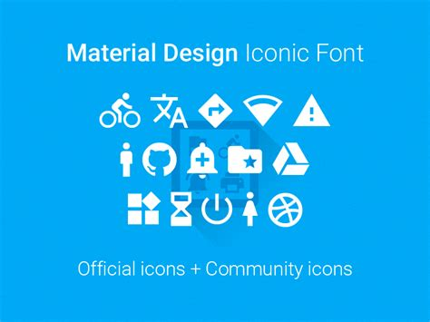 Material Design Font Download   material design iconic font by zavoloklom