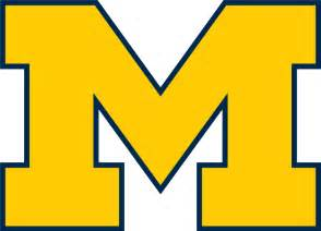 michigan wolverines colors free coloring pages of m logos