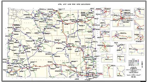 wydot map wyoming road report map oregon map