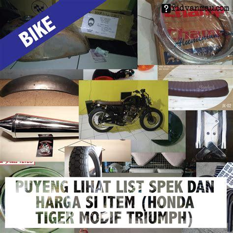 Spare Part Honda Tiger 2015 puyeng lihat list spek dan harga si item honda tiger