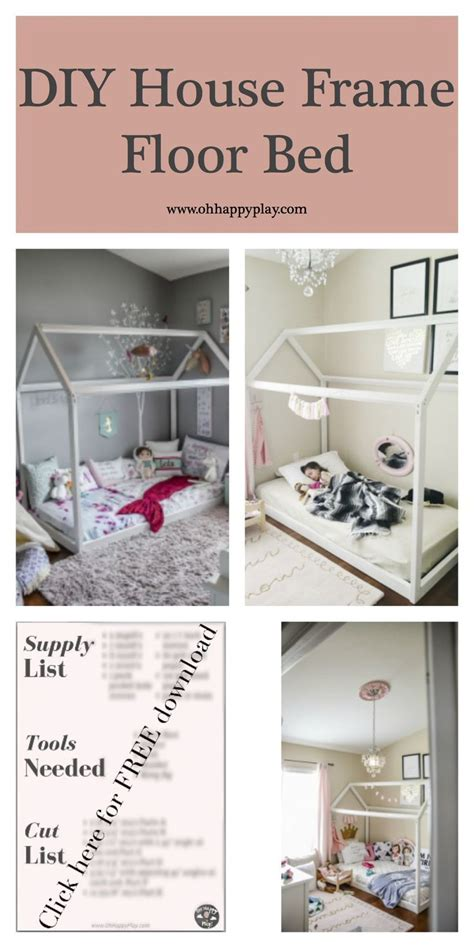 frame for bed on the floor 25 best ideas about house beds on diy toddler