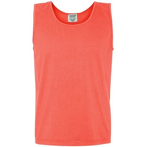 comfort colors neon red orange comfort colors 9360 garment dyed heavyweight ringspun tank