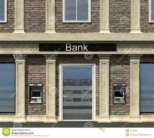 facade of a bank branch royalty free stock photo image