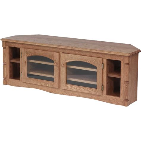 wooden corner tv cabinet solid oak country style corner tv stand 60 quot the oak