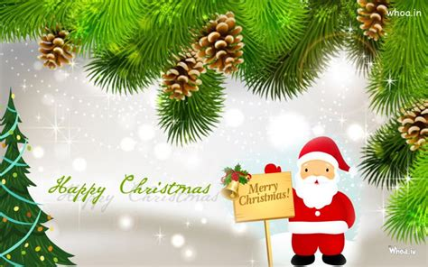 merry christmas greeting cards santa claus  christmas tree