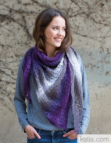 shawl pattern variegated yarn lace shawl in variegated yarn free knitting pattern