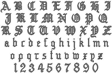 printable old english fonts calligraphy alphabet december 2012