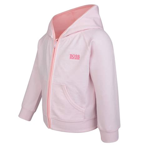 light pink chion sweatshirt boss kids baby girls light pink logo hoodie chocolate