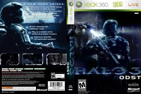 printable xbox 360 game covers halo 3 odst xbox 360 game covers 26614 halo 3 odst