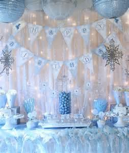 How To Make Winter Wonderland Decorations - snow fairy winter wonderland party decorations banner
