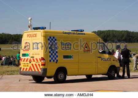 police cctv observation vehicle stock photo, royalty free