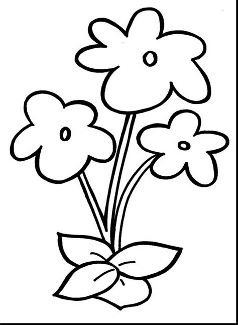 Flower Coloring Pages Printable by Small Flower Coloring Pages T8ls