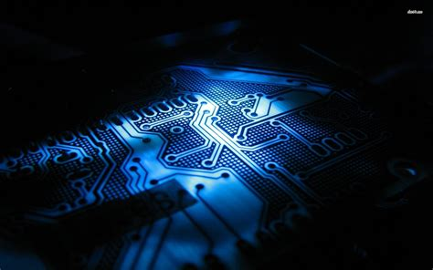 dark electronic wallpaper photo collection dark blue circuit board wallpaper