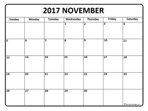 November 2017 Calendar November 2017 Calendar Printable Free Calendar Template 2017 November