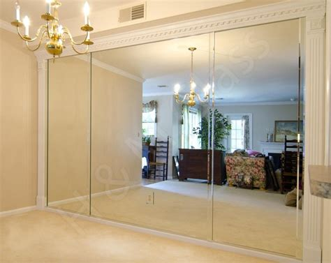 wall mirrors for dining room dining room wall of mirrors in oakmont traditional