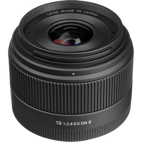 Sigma Lens 19mm F by Sigma 19mm F 2 8 Ex Dn Lens For Sony E Mount 400965 B H
