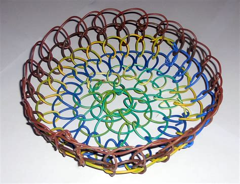 baskets from found materials week 8 electrical wire