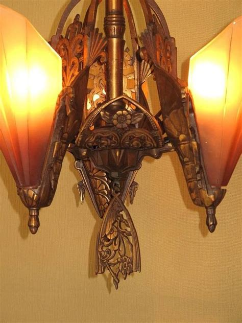 Bronze L Shades by Three Shade Bronze Chandelier With Brown Tip Shades For