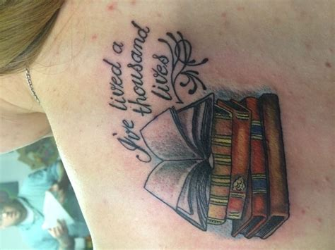 open book tattoo second this ones on my shoulder quot i ve lived a