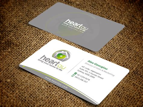 hometown business card design modern elegant business card design for heartau by