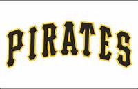 Pittsburgh Pirates Jersey Logo 1980  Arched In Black With A