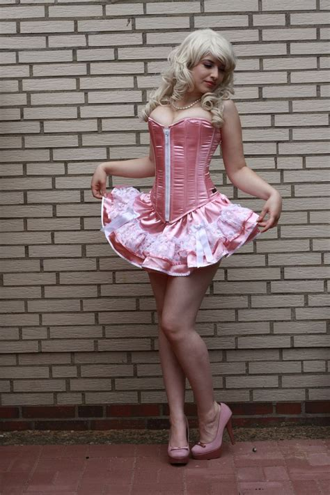 sissy bimbo babette ts pink satin bimbo all things sissy