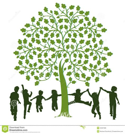 House Design Book Download children playing around a tree stock vector image 45307686