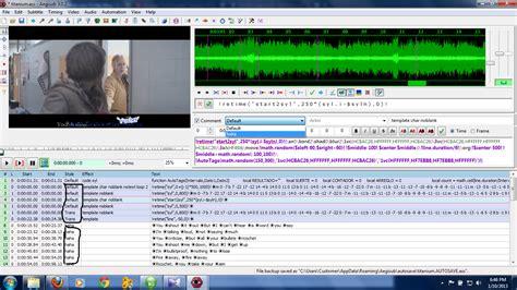 tutorial membuat video karaoke tutorial membuat efek karaoke menggunakan aegisub