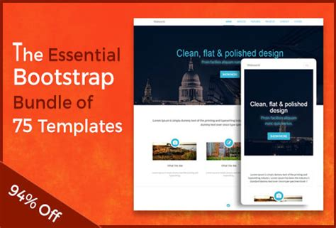 bootstrap themes bundle bootstrap website templates 75 incredible templates for