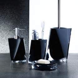 Black Set Twist Black Bathroom Accessories Contemporary Bathroom
