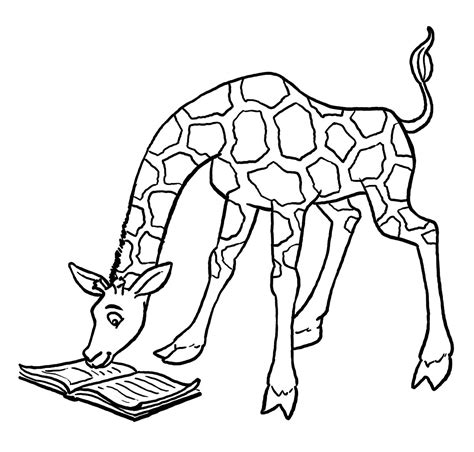 Coloring Page by Free Printable Giraffe Coloring Pages For