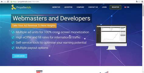 membuat iklan di internet cara membuat onclickads propeller ads di blog carcir