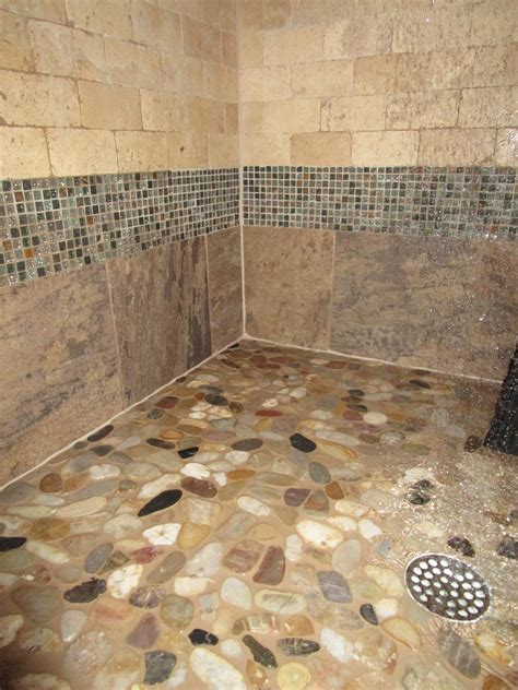 River Rock Shower Floor Problems by Need Help River Rock Shower Floor With Lots Of Grout How