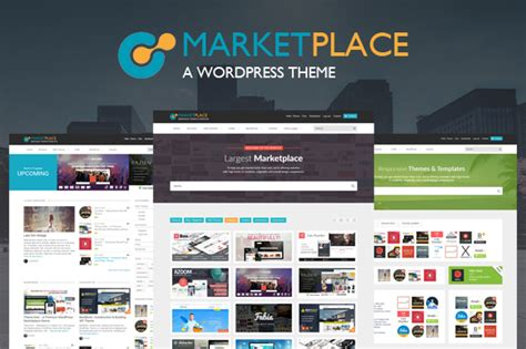 Wordpress Marketplace Theme Wordpress Commerce Themes On Creative Market Marketplace Website Template