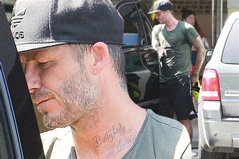 Beckham Tattoo Pretty Lady | david beckham shows off pretty lady tattoo dedicated to