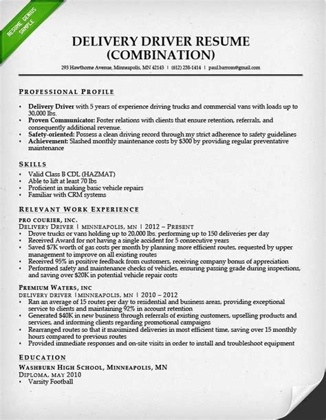 Commercial Truck Driver Description by Commercial Truck Driver Resume Sle Jennywashere