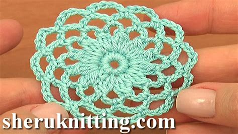 video tutorial how to crochet crochet round motif tutorial 10 part 1 of 2 crochet circle