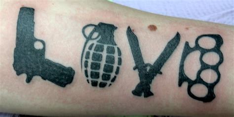 weapon tattoo designs 37 tattoos that showcase eternal