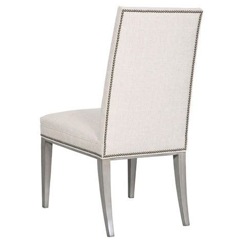 white country dining chairs upholstered cheska country white upholstered tufted nailhead dining side chair