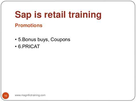 sap retail tutorial sap is retail training