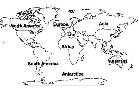 Coloring Page World Map by Get This Free Preschool World Map Coloring Pages To Print