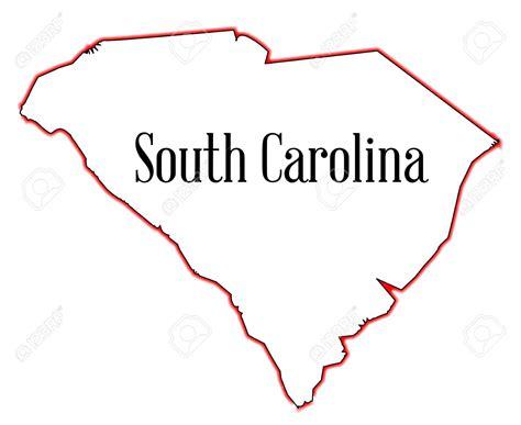 South Carolina Map Outline by South Carolina Outline Clipart 28