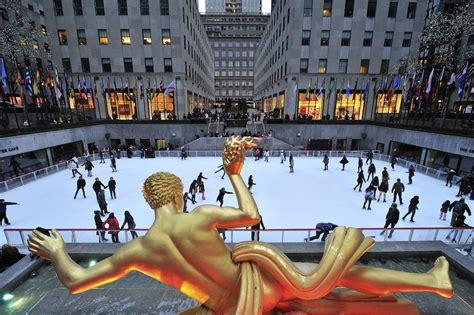 new york style new york mall celebra el d a del padre hoy abre sus puertas la pista de hielo del rockefeller