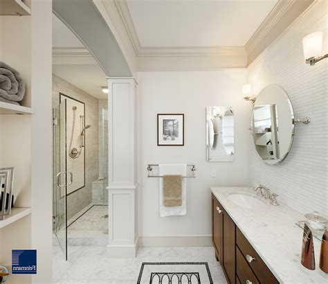 polished nickel bathroom mirrors polished nickel mirror powder room transitional with metallic accent wall contemporary