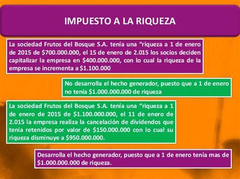 liquidacion impuesto a la riqueza enero 1 de 2016 ley 1739