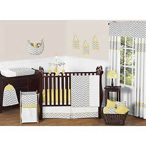 Crib Bedding Yellow Sweet Jojo Designs Zig Zag Chevron 11 Crib Bedding