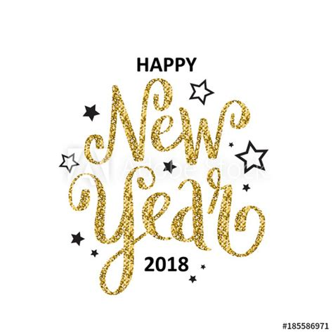 new year 2018 cards uk happy new year 2018 lettered card buy this stock