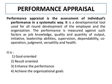 Mba Appraisal Services Inc by Performance Appraisal Mba Summer Project